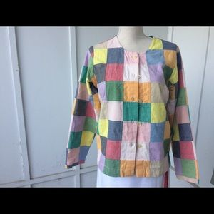 ORVIS Patchwork Jacket Size small
